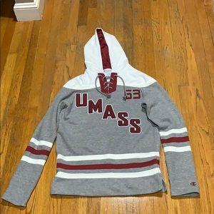 UMass Amherst hockey style sweatshirt